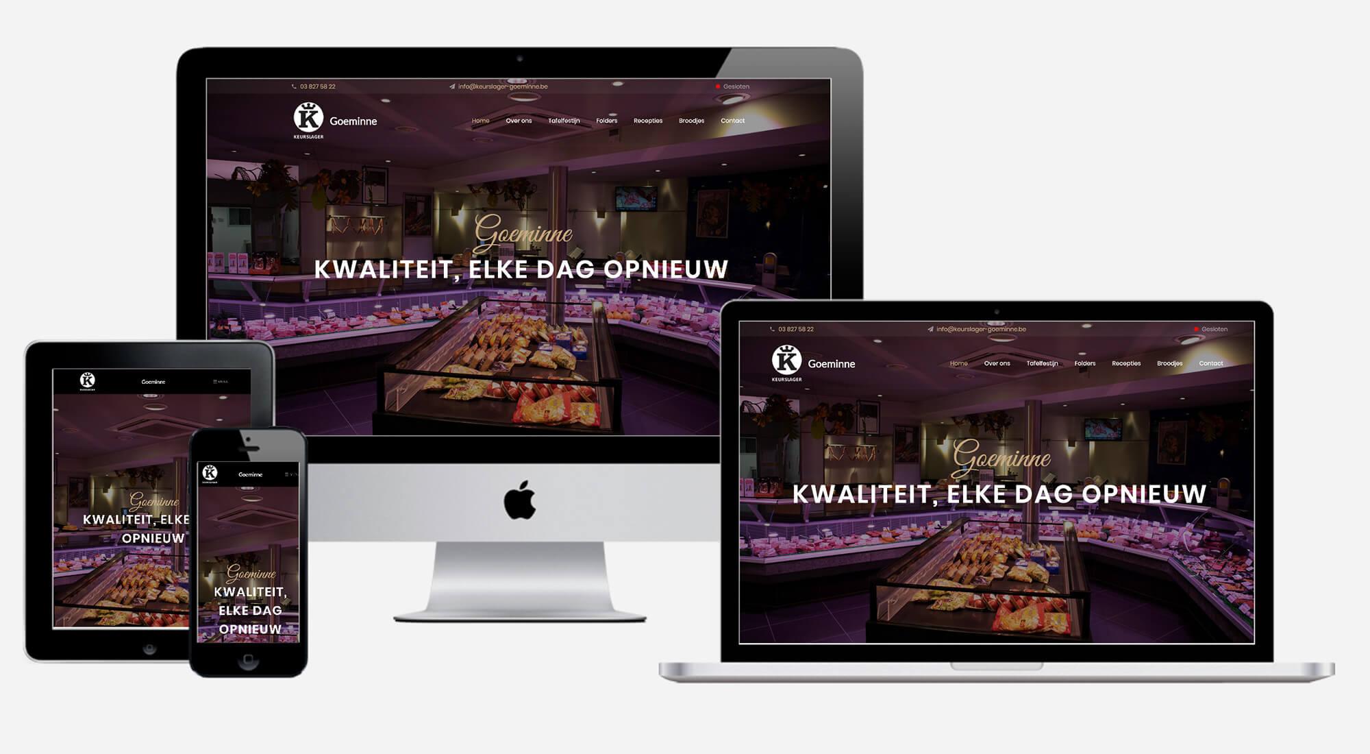Keurslager Goeminne website preview